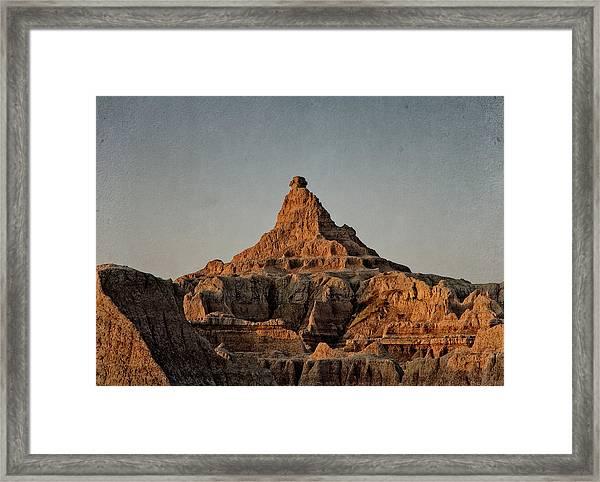 Badlands At Sunrise Framed Print