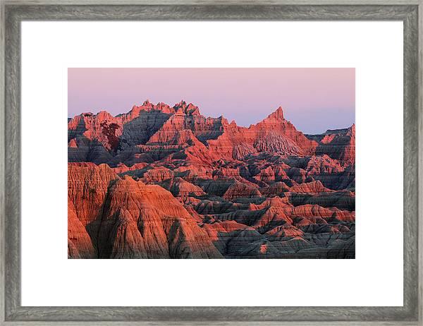 Badlands Dreaming Framed Print