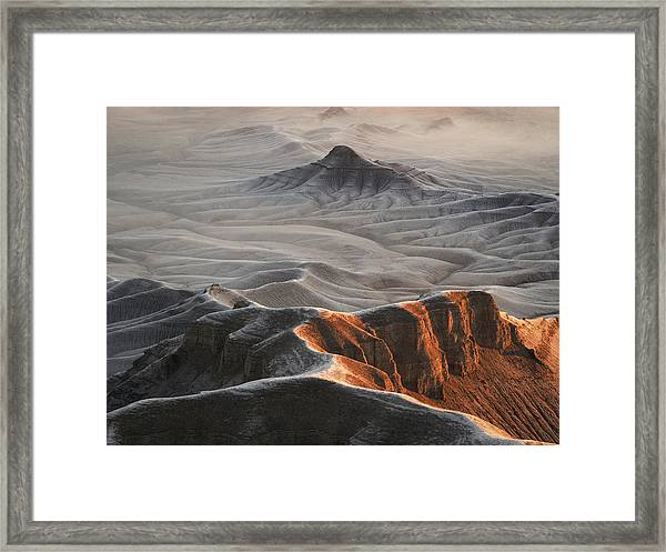 Badlands Fog Framed Print