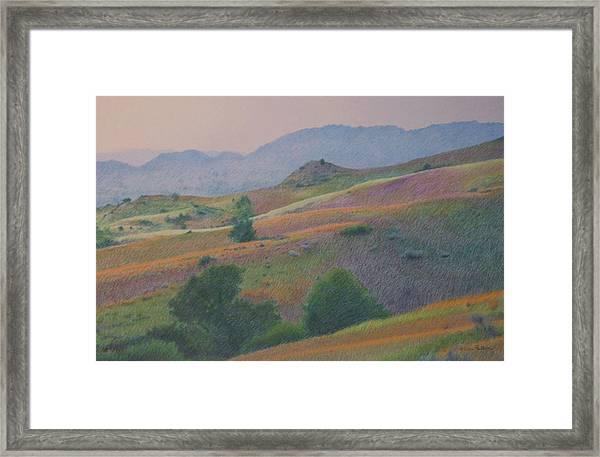 Badlands In July Framed Print