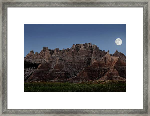 Badlands Moon Rising Framed Print