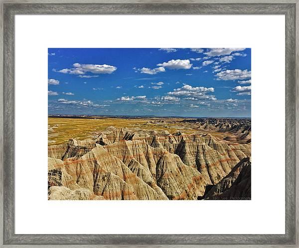 Badlands To Plains Framed Print