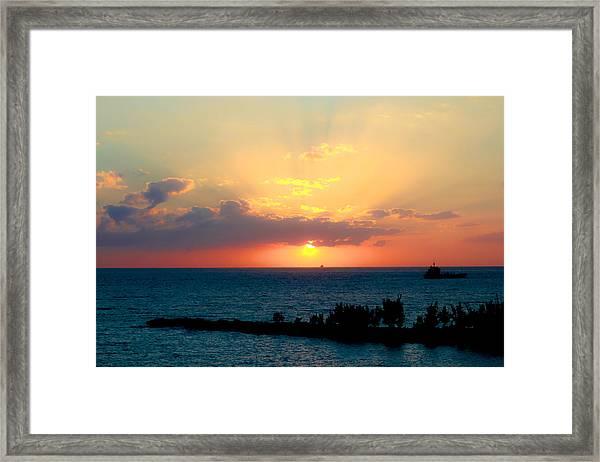 Bahamas Sunset Framed Print