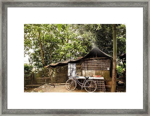 Bahay Kubo Framed Print by Sayaka Aira Espiritu