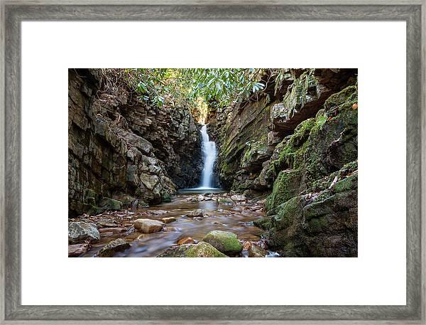 Baileys Falls Framed Print