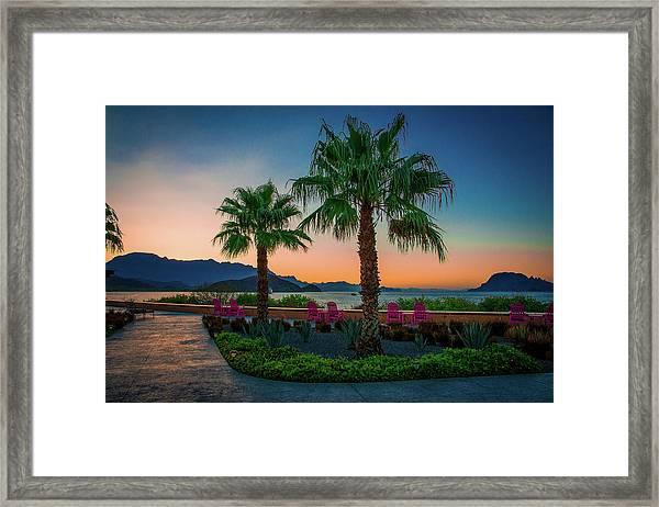 Baja Sunset Framed Print
