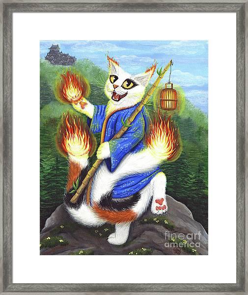 Bakeneko Nekomata - Japanese Monster Cat Framed Print