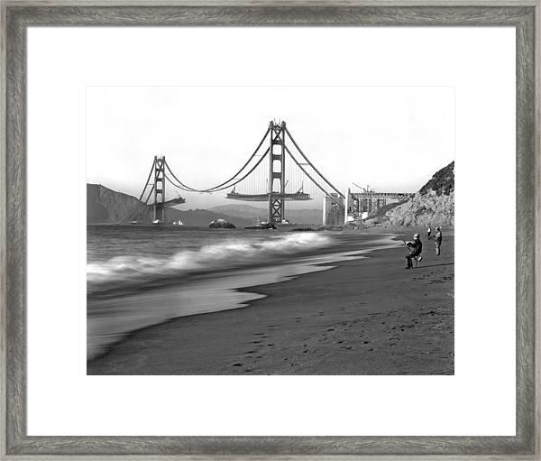 Baker Beach In Sf Framed Print