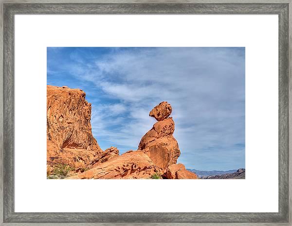 Balance Rock  Framed Print