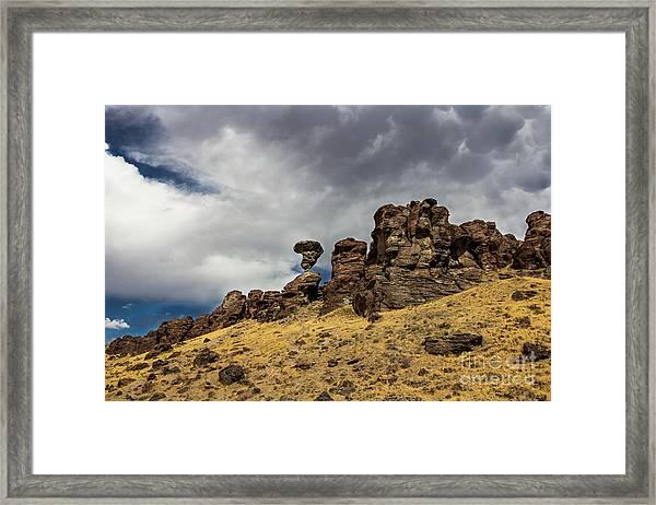 Balanced Rock Adventure Photography By Kaylyn Franks Framed Print