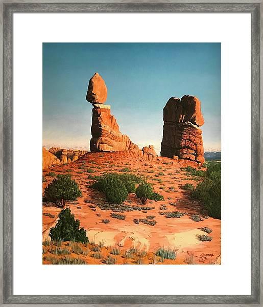 Balanced Rock At Arches National Park Framed Print