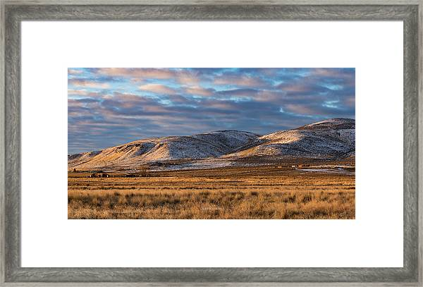 Bald Mountain At Dawn 2 Framed Print by The Couso Collection