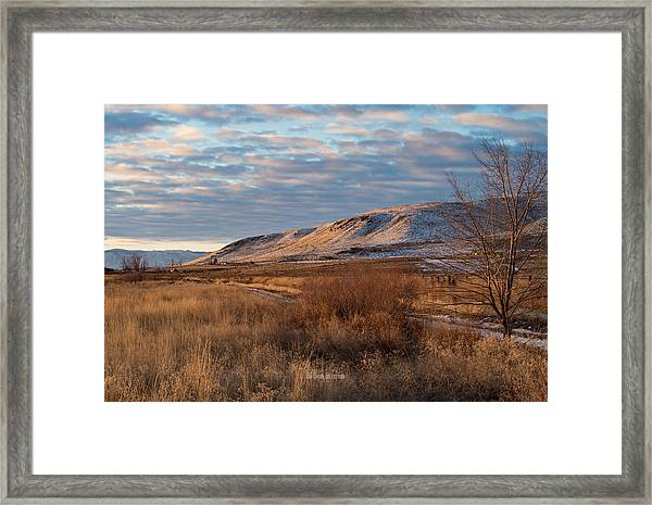 Bald Mountain At Dawn Framed Print by The Couso Collection