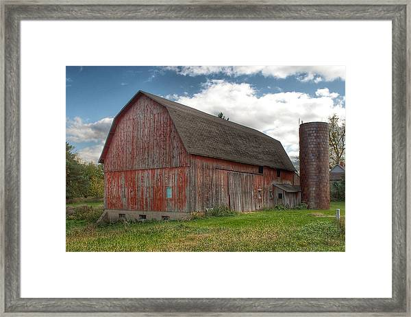 0003 - Baldwin Road Red I Framed Print