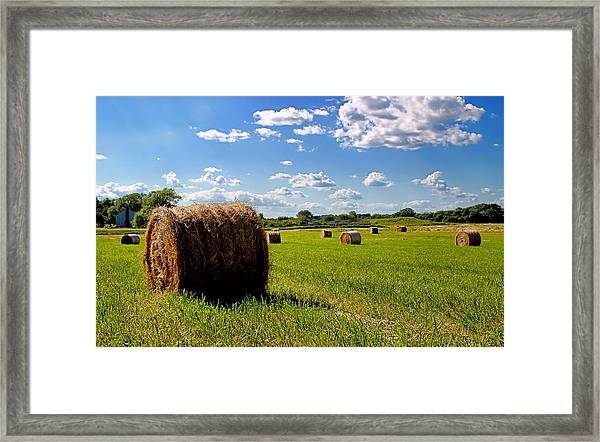 Bales Of Clouds Framed Print