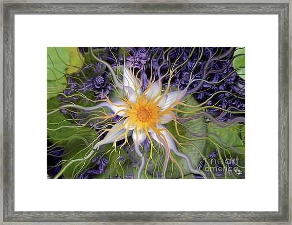 Bali Dream Flower Framed Print