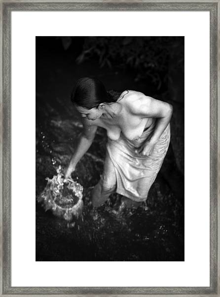 Balinese Bather Framed Print