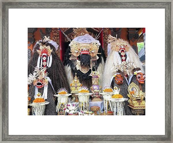 Balinese Life - Mlaspas Ida Sasuhunan Framed Print by Arya Swadharma