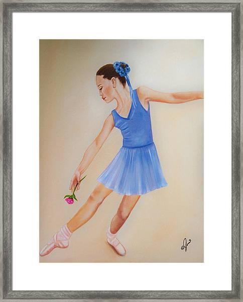 Ballerina Blue Framed Print