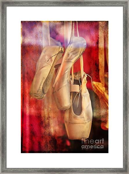 Ballerina Shoes Framed Print