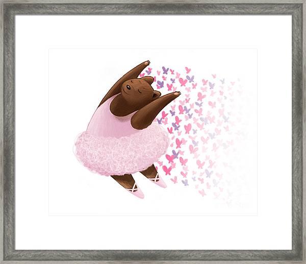 Ballet Bear Framed Print