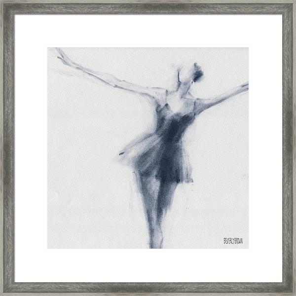 Ballet Sketch Dying Swan Framed Print