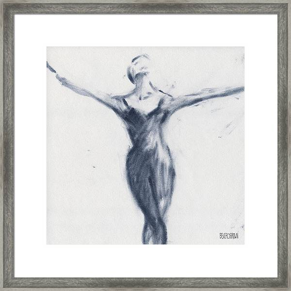 Ballet Sketch Open Arms Framed Print by Beverly Brown