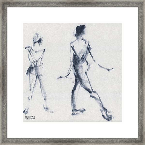 Ballet Sketch Tendu Back Framed Print