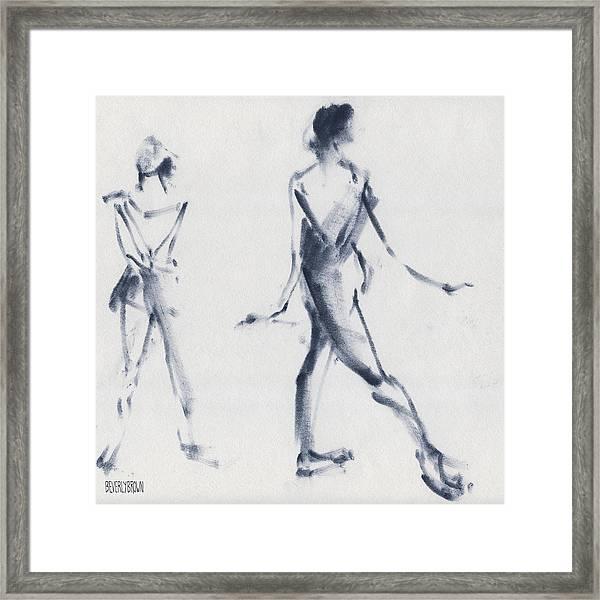 Ballet Sketch Tendu Back Framed Print