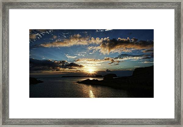 Ballintoy Sunrise Framed Print