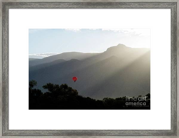 Balloon At Sunrise Framed Print