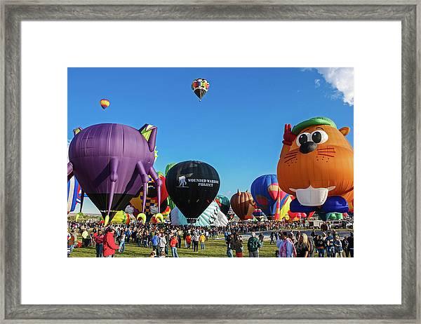 Balloon Fiesta Albuquerque I Framed Print