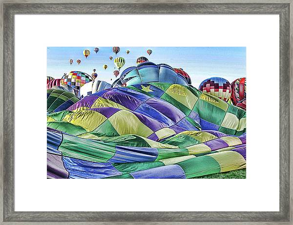 Ballooning Waves Framed Print