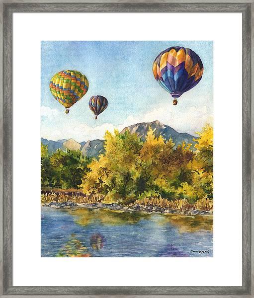 Balloons At Twin Lakes Framed Print