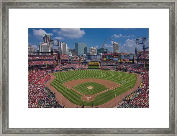 Ballpark Village Cardinal Nation Busch Stadum St. Louis Cardinals April 2015 #2 Framed Print