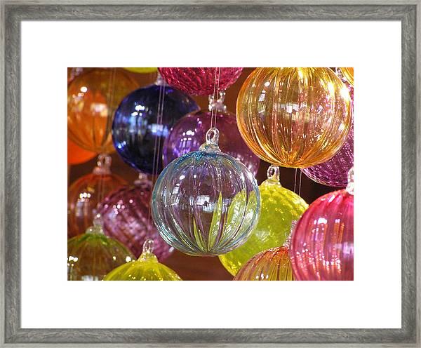 Balls Of Glass Framed Print by Richard Mansfield