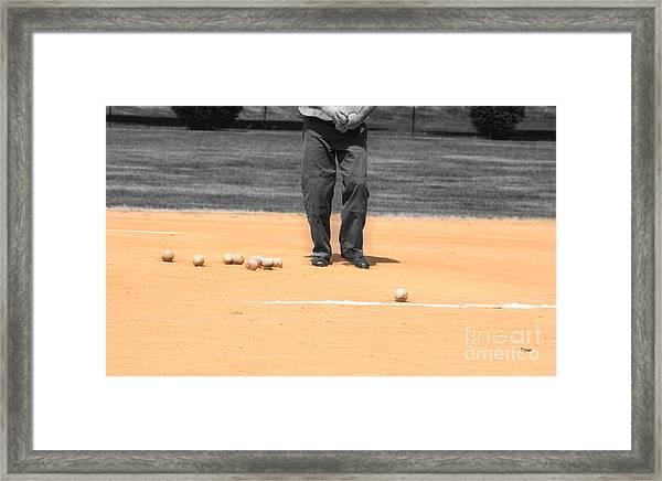Balls Framed Print by Steven Digman