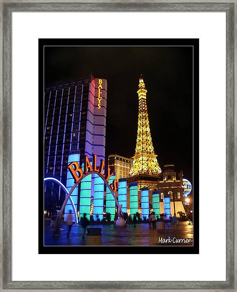 Ballys And Paris Las Vegas Framed Print