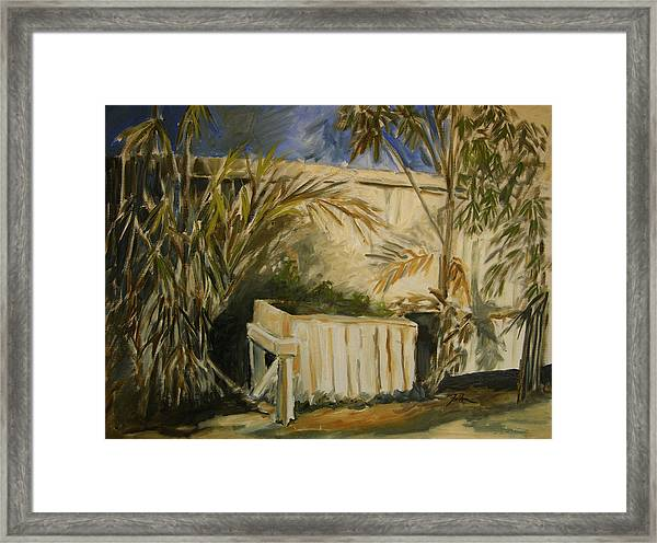 Bamboo And Herb Garden Framed Print
