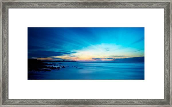 Bamburgh Blue Framed Print