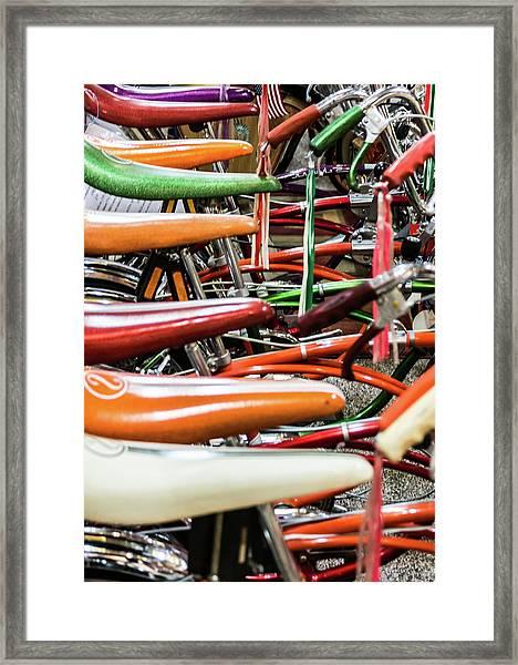 Banana Bikes Framed Print