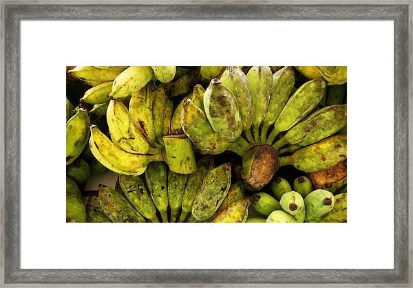 Bananas At Market Framed Print