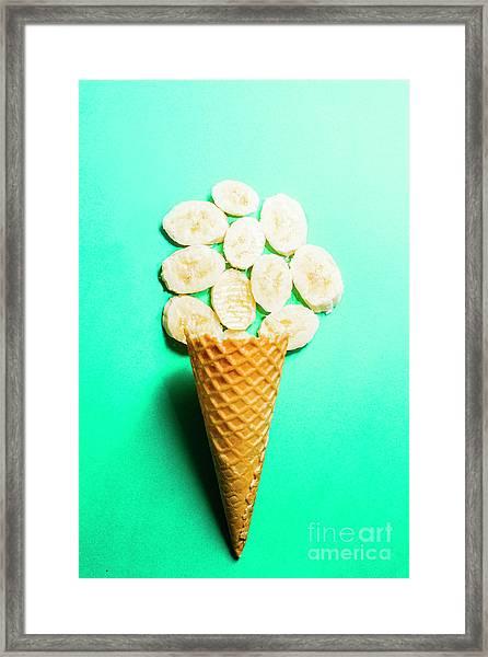 Bananas Over Sorbet Framed Print