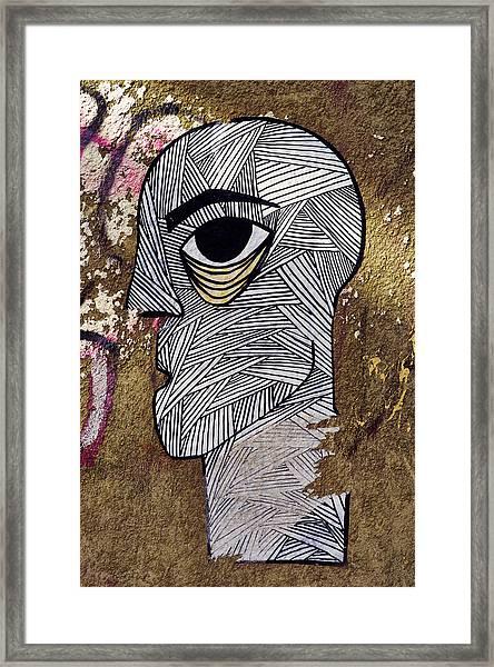 Bandage Man Framed Print