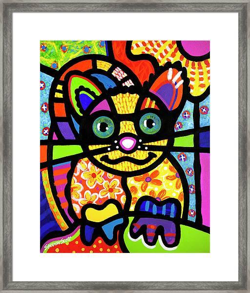 Bandit The Lemur Cat Framed Print