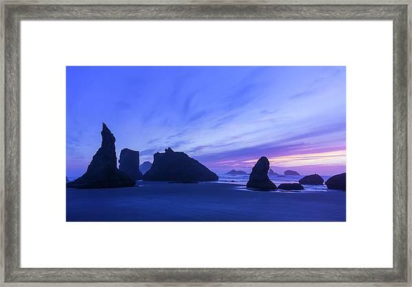 Bandon Blue Hour Framed Print