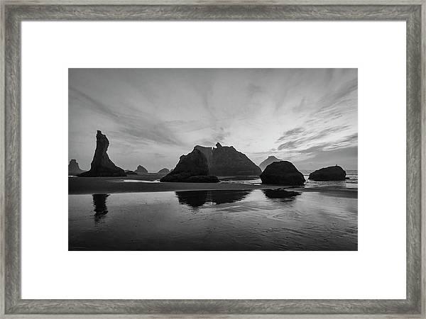 Bandon Pillars Framed Print