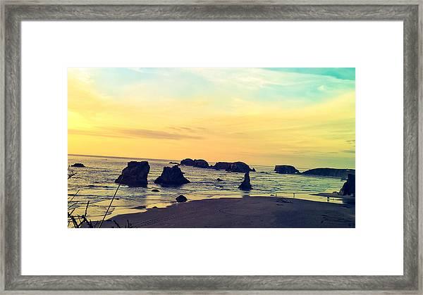 Bandon Seastacks Framed Print