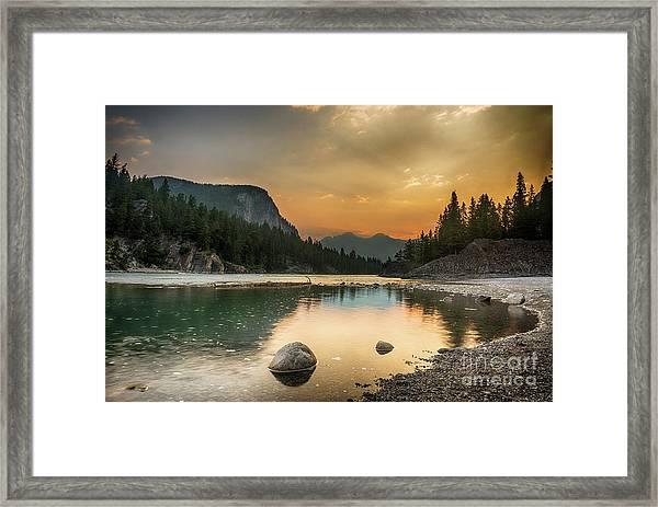 Banff Sunrise Framed Print