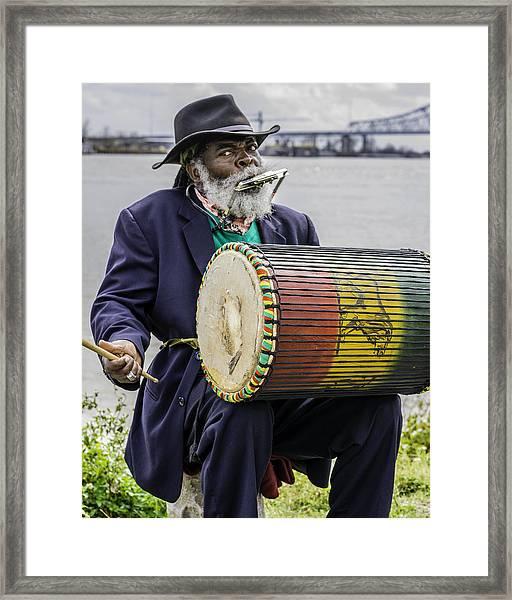Bang That Drum Framed Print